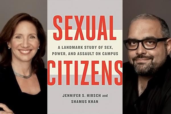 "Author head shots and book cover which reads ""Sexual Citizens"""